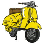 Yellow Vespa Scooter