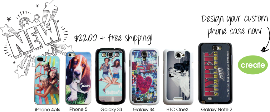 New custom phone covers - $22 plus free shipping