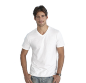 GILDAN Adult Semi Fit V-neck