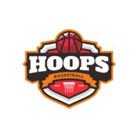 Hoops Basketball logo template 04 Thumbnail