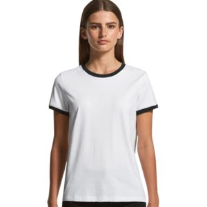 AS Colour Women's Ringer Tee Thumbnail