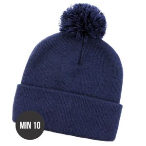 Pom Pom Roll Up Plain Beanies Thumbnail