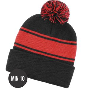 Pom Pom Roll Up Panel Beanies Thumbnail