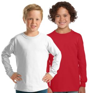 GILDAN Unisex Kids Long Sleeve Tee Thumbnail