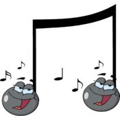 Two singing music notes Thumbnail