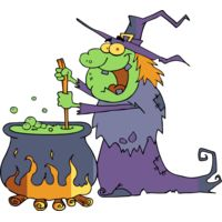 Witch with cauldron Thumbnail