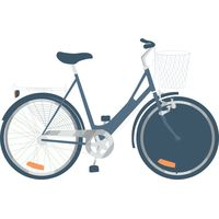 Blue bike with basket Thumbnail