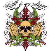 Faith Is My Religion Skull Thumbnail