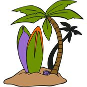 Surfboards Palm Tree Thumbnail