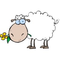 Sheep with flower Thumbnail