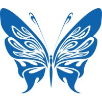 Blue tattoo butterfly2 Thumbnail