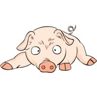 Pig lying down Thumbnail