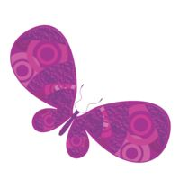 Purple pink butterfly Thumbnail