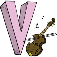 V is for Violin Thumbnail