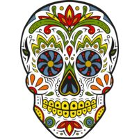 Colourful Skull Thumbnail