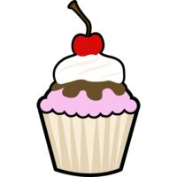 cup cake with cherry on top Thumbnail