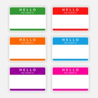 badge name tags hello Cliparto 3728640 Large Thumbnail