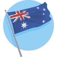 Australian Flag Flying Thumbnail