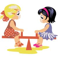 Girls on seesaw Thumbnail