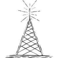 Vintage radio transmission tower Thumbnail