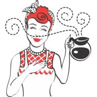 Woman coffee pot Thumbnail