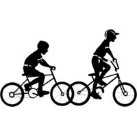 Boys riding bikes Thumbnail