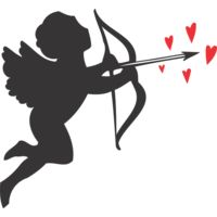 Cupid with red hearts Thumbnail