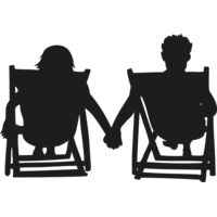 Beach chair couple Thumbnail
