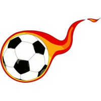 Flaming  soccer ball Thumbnail