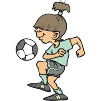 Girl soccer knee juggling Thumbnail