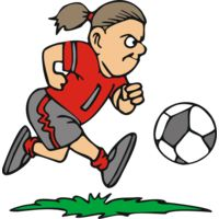 Determined girl soccer Thumbnail