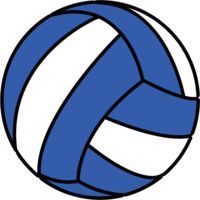 png volleyball blue Thumbnail
