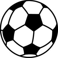 Soccer ball black white Thumbnail