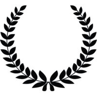 laurel wreath black and white Thumbnail