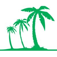 Palm trees green solid Thumbnail