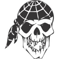 Skull with bandana Thumbnail