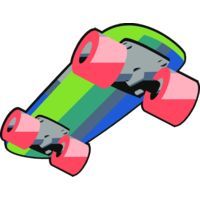 Skateboard colourful Thumbnail